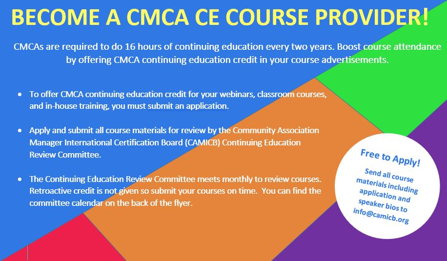 Continuing Education Course Providers Overview